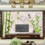 3D Chinese wallpaper seamless television background wall paper film wall painting living room bedroom and murals