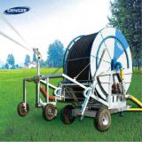 Agricultural traveling water hose reel irrigation system rain spray irrigation machine