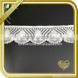 White elastic crochet african lace trim fabric for underwear FLL-010