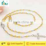 Fashion catholic plastic rosary bead necklace Wholesale