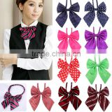 Womens Bowtie Sexy School Girl Costume Ladies Cosplay Fashion Clip-on Necktie