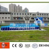 Outdoor above ground PVC wall steel frame swimming pool