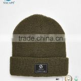 Custom logo knitted beanies hat,Leather patch beanies hat,Australia plain beanies hat
