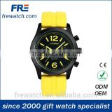 new arriving silicone hand watch with several fake dial and three button mens silicone watch