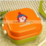 530ml 2015 Newest Children Mini bento lunch box, microwave safe lunch box, Portable handheld lunch box
