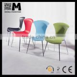 cheap plastic reception room furniture metal legs guest chair for sale