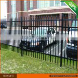 Black powder coated security backyard metal steel picket fence                                                                         Quality Choice                                                                     Supplier's Choice