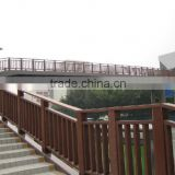 bridge handrails/solid wood railings/railing/fence/fencing for outdoor stairs