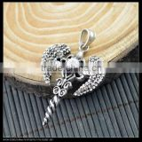 LFD-0034P ~ Wholesale Fashion Antique Silver Cross With Pave Crystal Rhinestone Pendant Jewelry Making