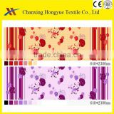 Light color textile fabric design for Micro peach Polyester bed sheet fabric like 100 cotton fabric touching