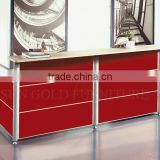 Wooden hotel reception counter design, front desk counter (SZ-RTB041-1)