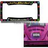 Fashionable PVC Car License Plate Frames New Product