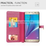 2016 new fashion hand-crafted stand wallet pu case with cosmetic mirror beauty case for samsung galaxy note 7                                                                                                         Supplier's Choice