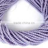 5 Strands Lavender Purple Glass Pearl Smooth 4.5mm Rondelle Beads,Acrylic Pearl beads,Jewelry Beads,Pearlized Beads,16""