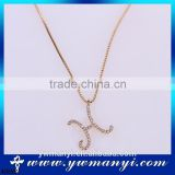 Online shopping for wholesale fashion letter necklace H shape diamond alloy chain necklace N0002