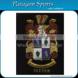Bullion Wire & Silk Thread Hand Embroidered Family Crest Teeter Badge Emblem