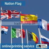 Custom Size Printed Type polyetser united states flag store