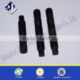 alibaba manufacturer black finished carbon steel half threads stud bolt