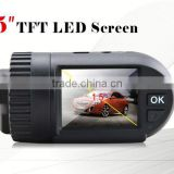2.7 inch dual windshield camerawaterproof dash cam gps motion detection g-sensor dual camera dash cam