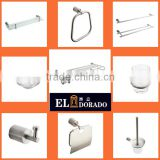 304 Stainless steel Brass Toilet Bathroom accessories sets Towel Rack Bar Robe Hook