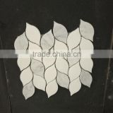 High quality imported leaf shaped water jet marble mosaic tile polished cheap                                                                                                         Supplier's Choice