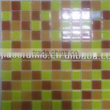 Yellow and orange red crystal glass mosaic tiles backsplash tile