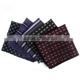Mens' silk feel jacquard tie and pocket square