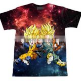2016 hot sales Dragon Ball Z Goku Saiyan Piccolo galaxy Print 3d t shirt funny Cartoon t shirt summer style men/women plus size