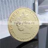Hot Sale Australia Kangroo Gold Old Coin Price / 2011 Elizabeth Gold Plated Souvenir Coin
