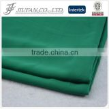 Jiufan Textile Plain Dyed Solid Color Woven Chiffon 100% Polyester Green Fabric For Clothing