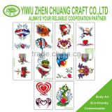 fashion body art tattoo sticker for vending machine
