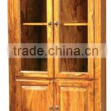 wooden cabinet,showcase,display rack,glass cabinet,almirah,home furniture,living room furniture,shesham wood furniture