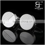 Top quality Custom Round Cufflinks of Stainless Steel for Mens