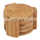 2015 new arrival eco-friendly bamboo table mat Bamboo Collection 7-Piece Coaster Set