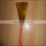 Flexible polyimide film parts for electric fireplace heater