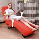 jade leisure reclining massage sofa with laptop and ipad stand