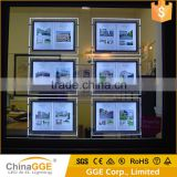 Window Backlit Display Edge Lit A3 A4 Hanging Window Acrylic LED Light Pockets Hanging Acrylic LED A3 A4 Wndow Display