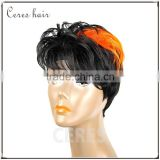 cheap High Temperature Fiber ST1B Orange wig synthetic wig for fashion lady short fashionable wig