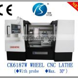 Wheel CNC Lathe machine of advantages Wheel drawing machine CK6187W used in car 4S -shops