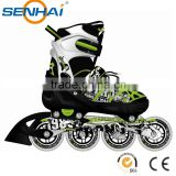 Aluminum Frame 4 in 1 Inline Skate Wheel 76mm Right Foo With Stoper Durable Roller Skate Wheels Skating Shoes