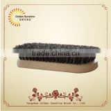 Hot selling new design wooden horssehair golf club shoe cleaning polish brush with FSC certification,cleaning brush manufactory