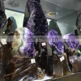 Natural Rock Amethyst Cluster Crystal Wand Drusy Ornament For Home Decor