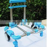 30KG LOADING PORTABLE SHOPPING STAINLESS STEEL LUGGAGE CART MINI FOLDING