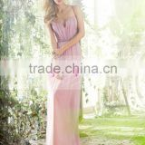 Sexy Sweetheart Backless Long Chiffon Bridesmaid Dress Maid Of Honor Dress ZY534