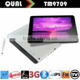9.7 inch tablet pc with 3g mobile phone function two sim card slot Quad Core IPS Bluetooth GPS Navigation FM ATV Full function Q