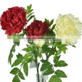 decorative flower fabric flower 2 stems real touch peony artificial penis