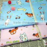Custom fabric and textile cartoon digital printed 100 cotton spandex fabric cut pieces wholesale