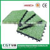 Indoor outdoor ornamental balcony laying portable leisure interlocking artificial grass carpet on tiles