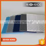 QINGDAO 7KING Anti slip Holey foot shape bath/swimming pool floating/shower PVC Floor Mat From Factory