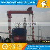 High Quality Rail-mounted Movable Cabin Control Ship Building Gantry Crane, Single Girder Gantry Crane for Sale